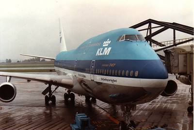 Our Boeing 747 To Take Us To New York From Amsterdam Holland American Express European Tour 1984