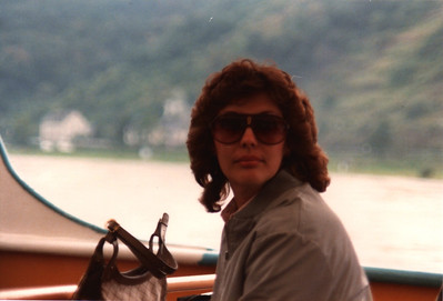 Ann Bellmor On River Cruise Germany American Express European Tour 1984