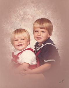 Michael and Mark--Christmas 1981