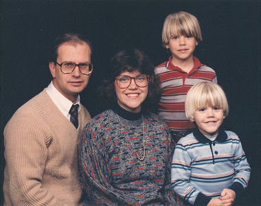 J.R., Janet, Michael, Mark--December 1985