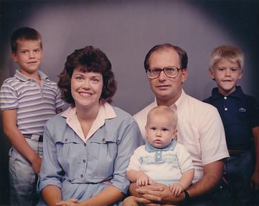 Michael, Janet, Jeffrey, J.R., Mark--Christmas 1987