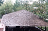 Garage roof before being re-roofed, summer 1980.