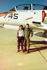 Kathy and Ken on ramp at Luke AFB, Jan 1987