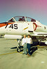 Kathy and Uncle Mike on ramp at Luke AFB. during Jan 1987