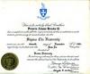 Sigm Chi Fraternity initiation certificate, November 11, 1981.