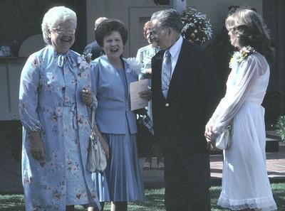 Verdadee Tague, Doris McMillan and Carl Tague.