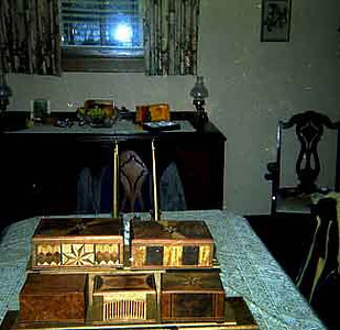 I don't really know when this picture was taken so i choose this date. these are some of the boxes that Grandpa Evald made.