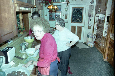 Catherine and Lucille spent a month with us after Frannie died.