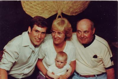 Steve, Joan, James, & baby Leanne - Baptism - 1983