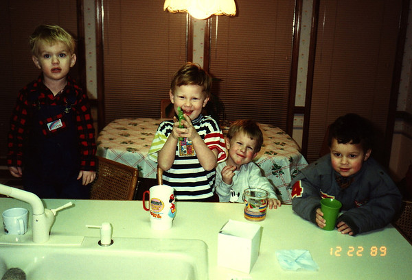 1989:12 Morgan, Chase, Justin & Clay Bellmor At Highland Pointe Home