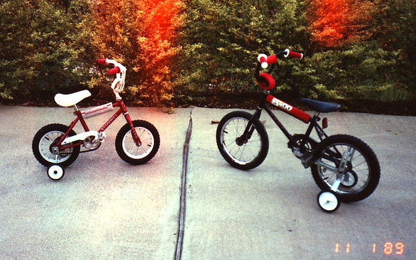 1989:11 Morgan & Justin Bellmor's First Bikes