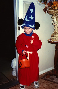 1989:10 Justin Bellmor As The Sorcerer Halloween • His Favorite Costume!