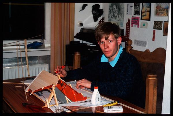 1988 Annes 50. Geburtstag, Ffm Luftaufnahmen, Mittelbuchen - unbearbeitet