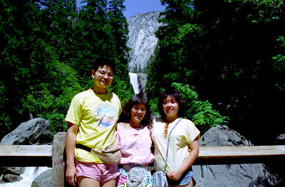 1988 Summer - Ester Visit Yosemite, Disneyland & Sea World