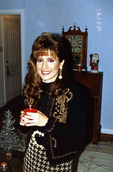 Christmas/Engagement party at parents' house, 12/21/91.