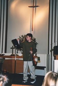 Justin Bellmor Playing His Violin Nov 1998