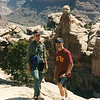 Hiking in the canyonlands, Cataract Canyon, Colorado River.