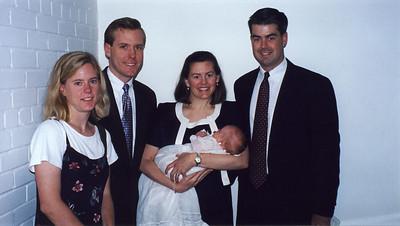 Jack's Christening with Amy, Andrew, Karen & JB