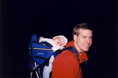 Jack Sleeping in Backpack & Andrew