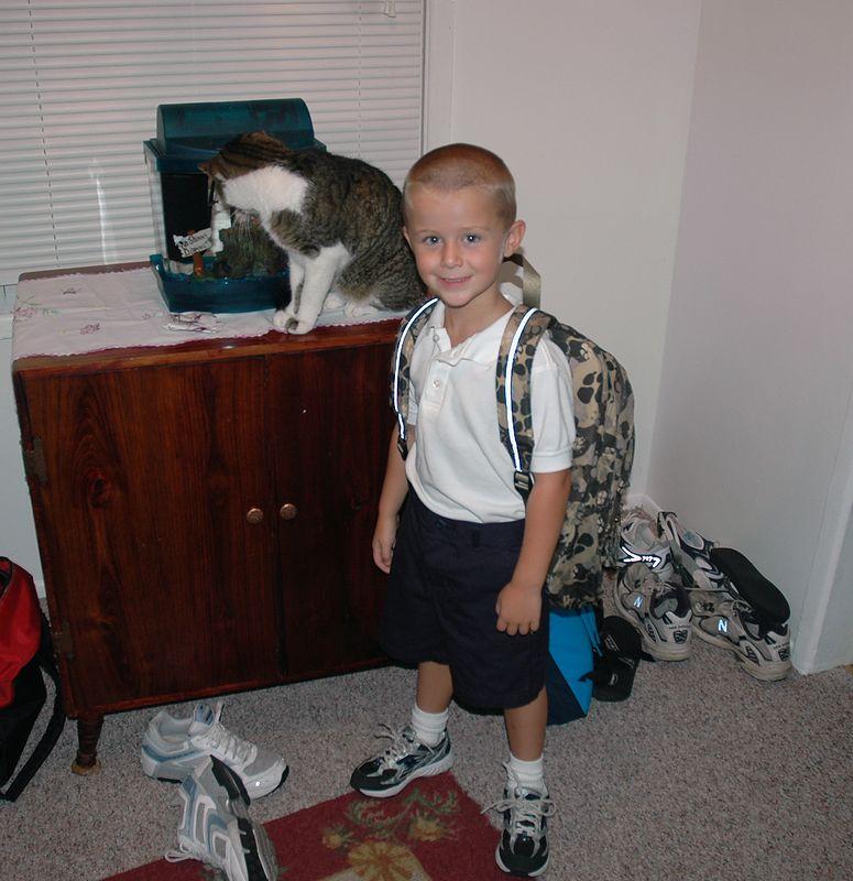 Dusty's 1st day of Kindergarten, August 2005.