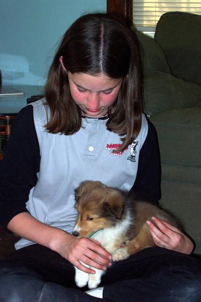 2001: Picking up Cody at breeder