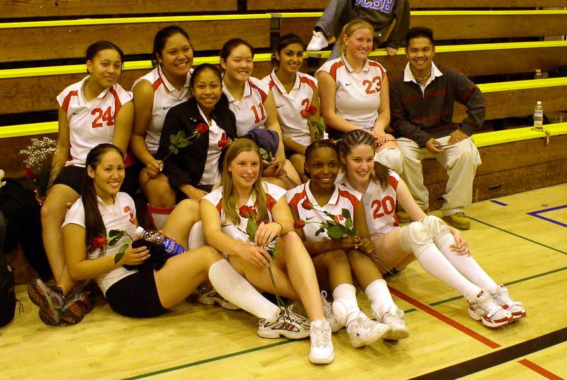 2003: De Anza volleyball