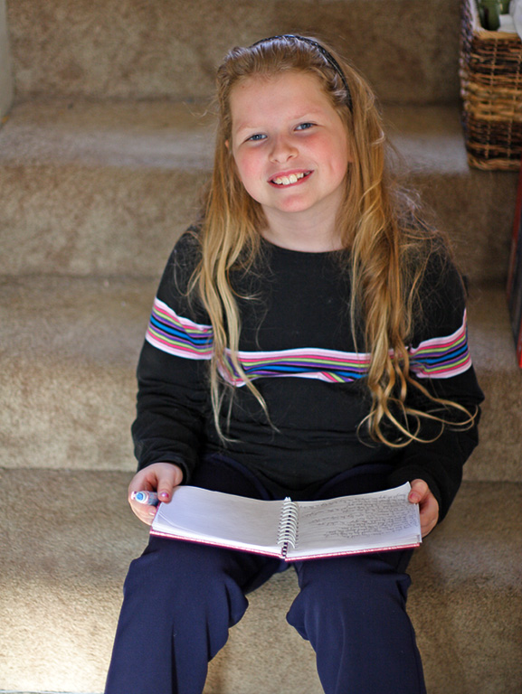 Abigail, almost 9. November 2005.