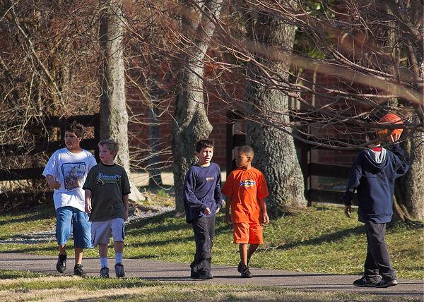 Left to right:  José (12), Josh (10), Edmundo (9), Darian (8), Jeremy (13)