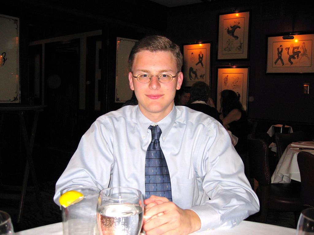 Justin Bellmor @ Bones Restaurant August 2004