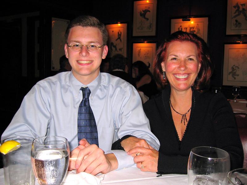 Justin & Ann Bellmor @ Bones Restaurant August 2004