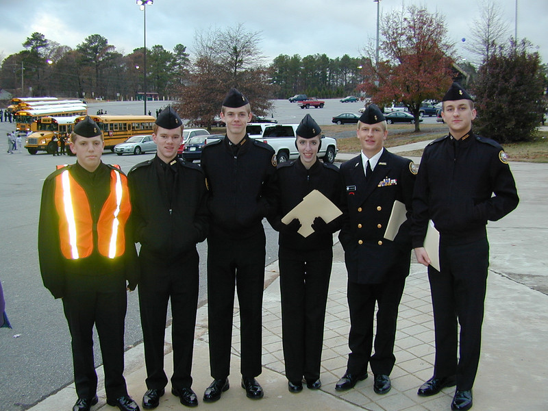 Morgan Bellmor (Last On Right) Lassiter High School's NJROTC Drill Meet December 2003