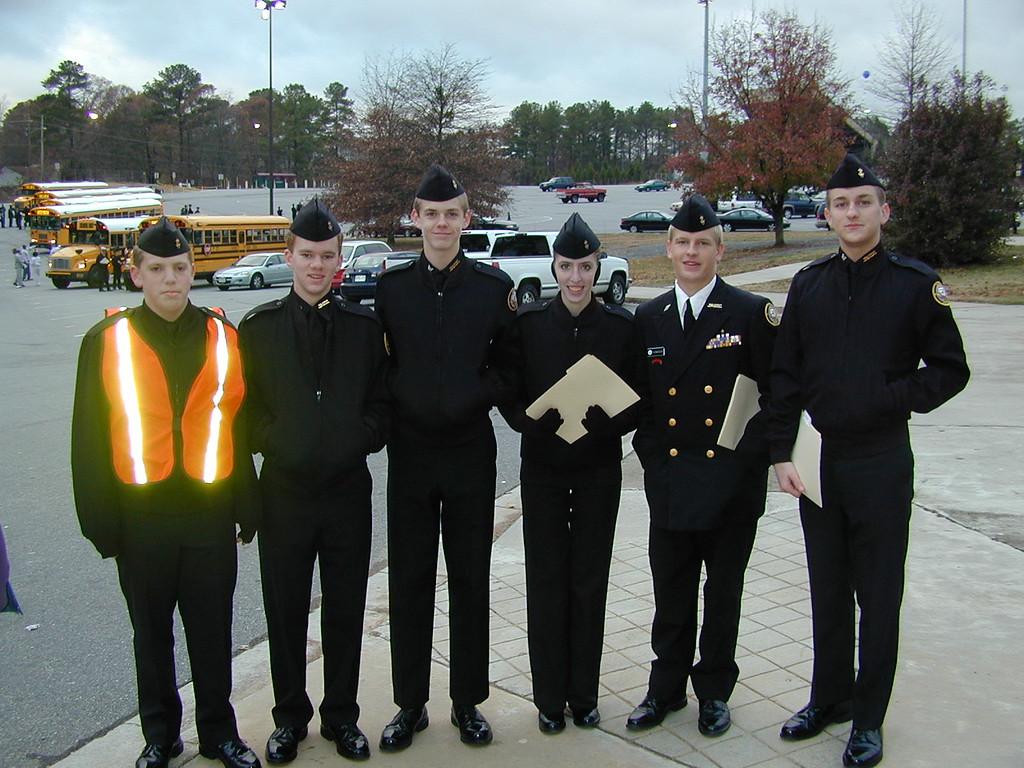 Morgan Bellmor (Last On Right) Lassiter High School's NJROTC Drill Meet December 2003