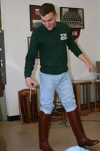 Morgan Bellmor Getting His Texas A&M Corps of Cadets Senior Boots Dec 2008
