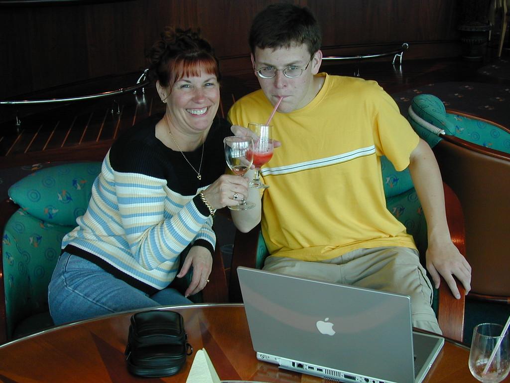 Ann & Justin Bellmor On Radiance Of The Seas Ship July 2003  Alaska Cruise Vacation
