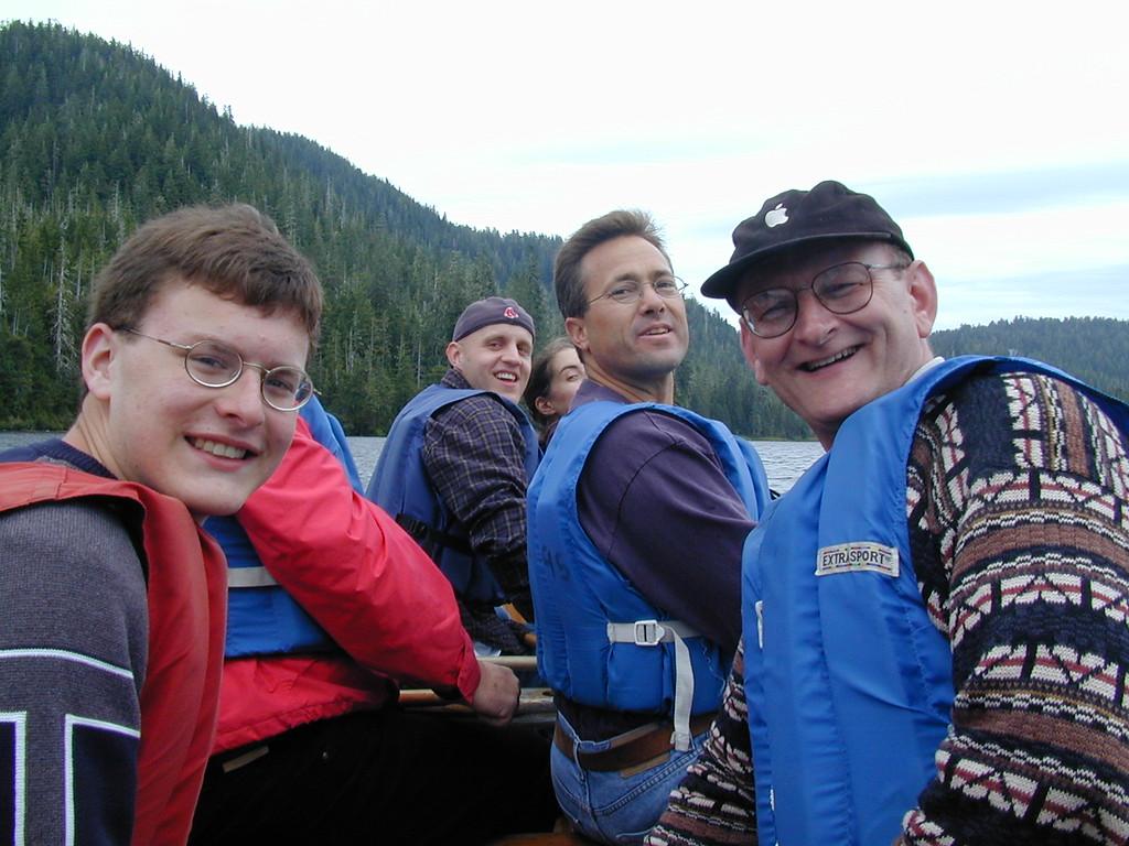 Justin & Russell Bellmor Canoeing On Lake Excursion Ketchikan Alaska Alaska Cruise Vacation July 2003