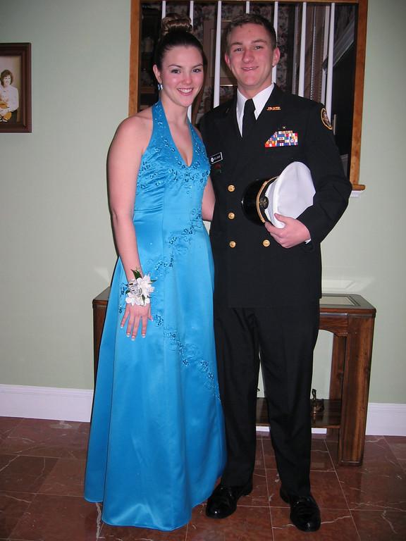 Maggie & Morgan Bellmor Lassiter's JROTC Military Ball February 26, 2005
