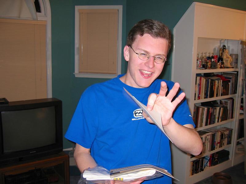 Justin Bellmor After Reading GA Tech Acceptance Letter 2-5-2004