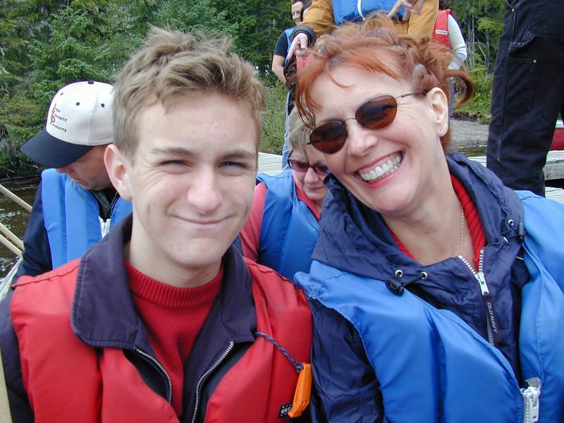 Morgan & Ann Bellmor Canoeing On Lake Excursion Ketchikan Alaska Alaska Cruise Vacation July 2003