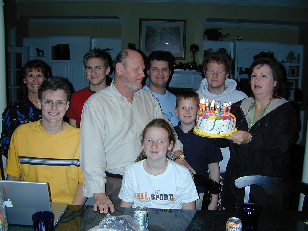 Justin, Richard, Cassidy, Colson, Bernadine, Ann, Morgan, Clay & Chase Bellmor At RIchard & Bernadine's House Thanksgiving 2003