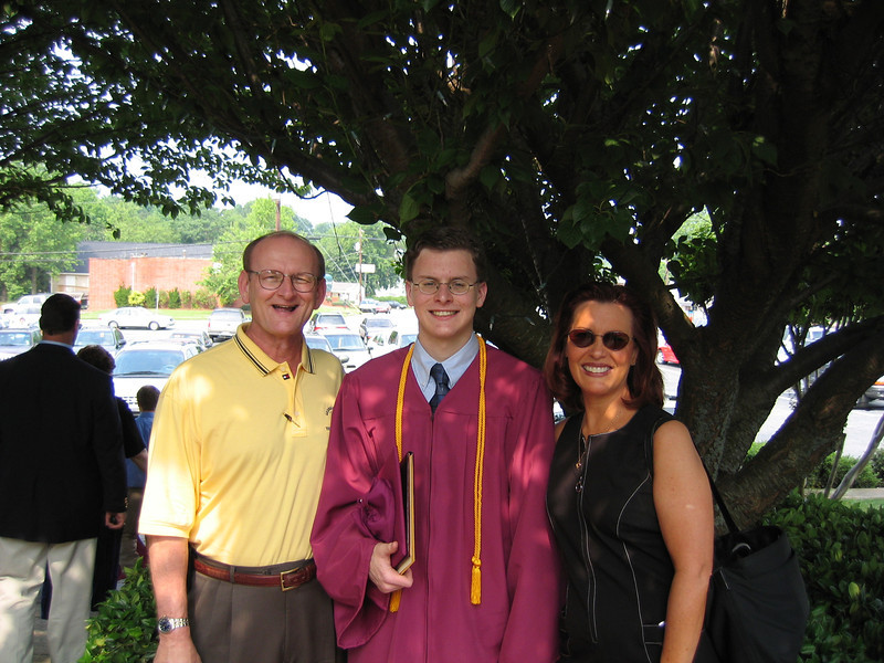 Justin Bellmor With Mom & Dad @ His Graduation From Lassiter High School May 2004