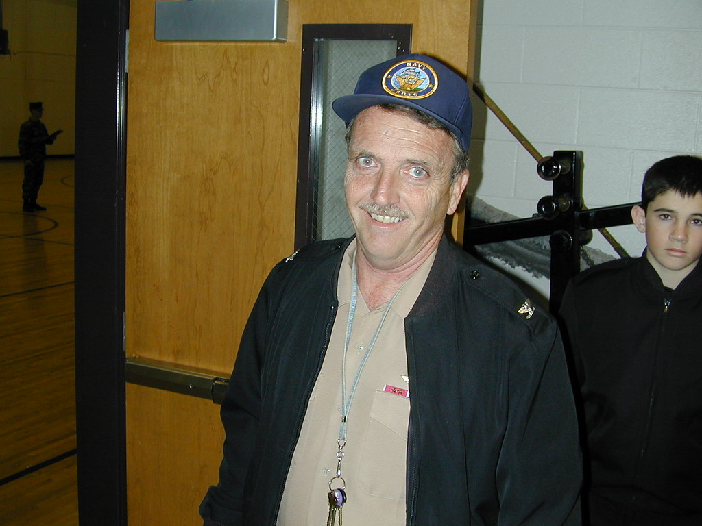 Captain Coon At Lassiter High School's NJROTC Drill Meet December 2003
