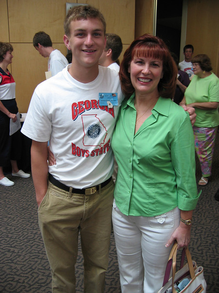 Ann & Morgan Bellmor At Georgia Boy's State June 2005