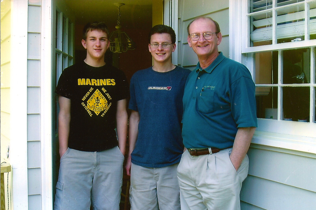 Morgan, Justin & Russell Bellmor @ David & Rachel's House May 2004