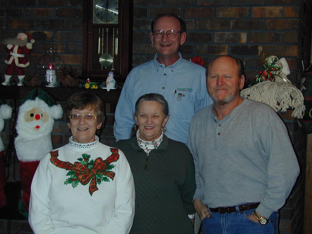 Marsha, Sandy, Richard & Russell Bellmor Christmas 2003