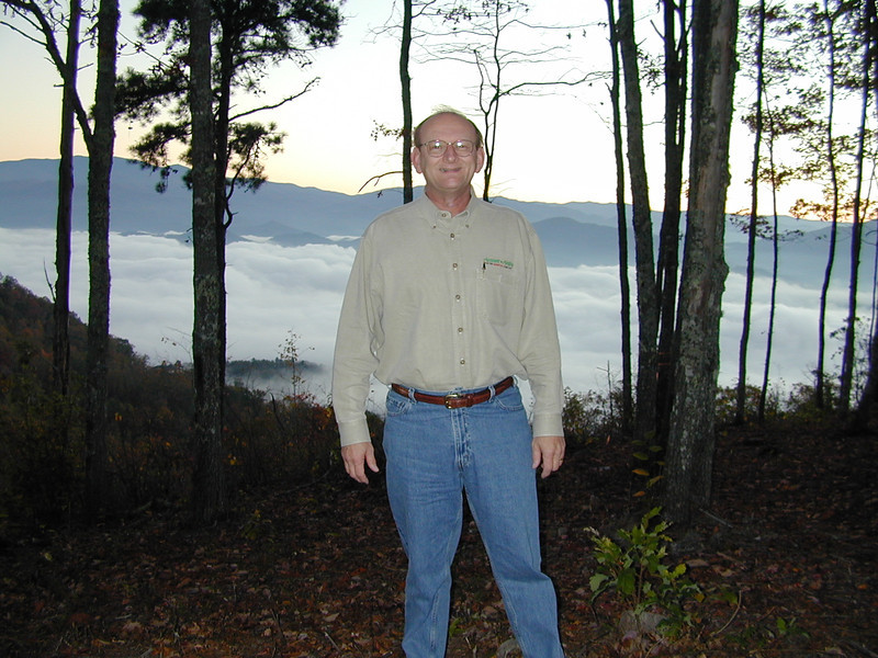 Russell & View From Russell & Ann Bellmor's Fontana Trace Property At Sunrise October 2003 Heavy Fog Over Lake Fontana