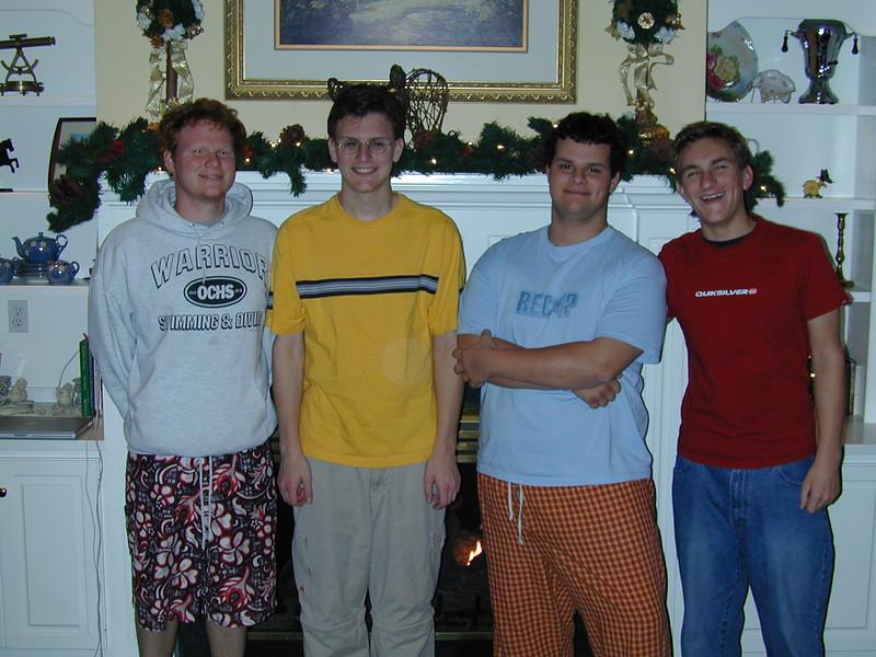 Chase, Justin, Clay & Morgan Bellmor At RIchard & Bernadine's House Thanksgiving 2003