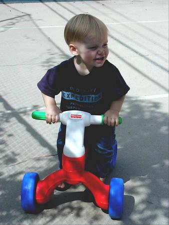 07 Connor on push bike