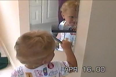 April 16, 2000 Nicholas styling his new haircut