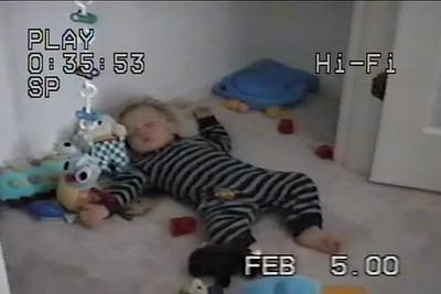 Feb 2000 B'ham Nicholas sleeps in his closet