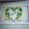 Bridal shower cake Becky & Blair